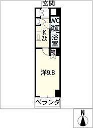 スクエア名駅南[6階]の間取り
