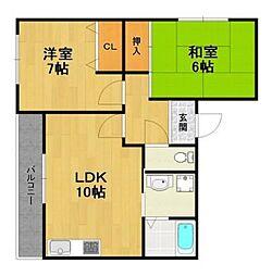 御園第5マンション[2階]の間取り