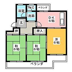 コアマンション糸重[2階]の間取り