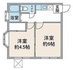 メゾンジュアラー坂戸[1階]の間取り