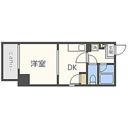 アリエス平尾II[8階]の間取り