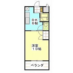 COSMO439[4階]の間取り