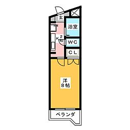 北山マンション[1階]の間取り
