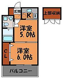 エステート・モア・警固本通り[12階]の間取り