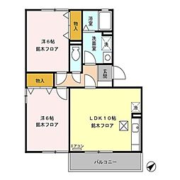 メゾンポレール[1階]の間取り