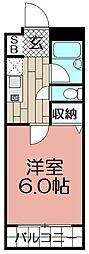 ラフィーネ平尾[3階]の間取り