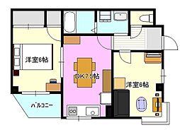 JS茅ヶ崎ビル302[3階]の間取り