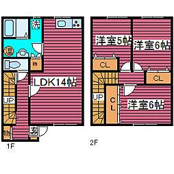 [タウンハウス] 北海道札幌市北区太平二条3丁目 の賃貸【/】の間取り