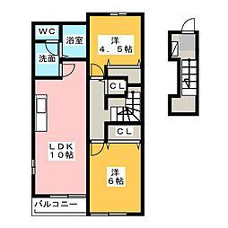 センプリーチェ A[2階]の間取り