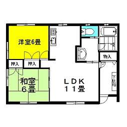 [一戸建] 茨城県神栖市知手中央9丁目 の賃貸【/】の間取り
