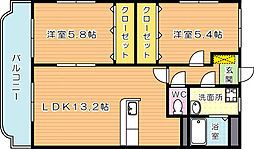 KAKUBLDII(カクビルII)[1階]の間取り
