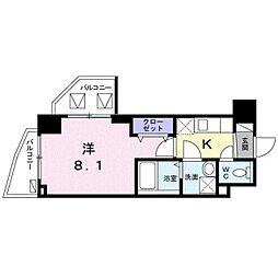 東京メトロ東西線 葛西駅 徒歩10分の賃貸マンション 6階1Kの間取り
