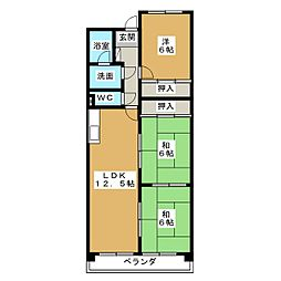 スカイガーデン和合I[3階]の間取り