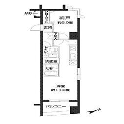 カスタリア新御茶ノ水[5階]の間取り