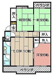森田ハイツ[205号室]の間取り