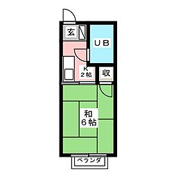 シティハイムクワバラ[2階]の間取り