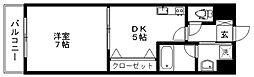 ルネッサンス久留米六ツ門[B205号室]の間取り