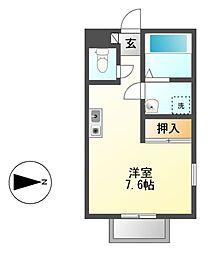 ラフォーレ萩原[2階]の間取り