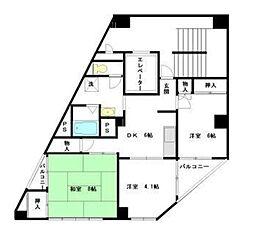 ダイサンコーポ並木[7階]の間取り