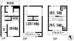 兵庫県西宮市段上町2丁目の賃貸マンションの間取り