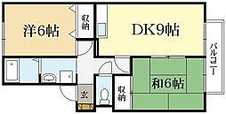 クレール井ノ口B棟[2階]の間取り