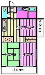 第3山崎ハイツ[301号室]の間取り