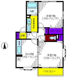 マロンコート[2階]の間取り
