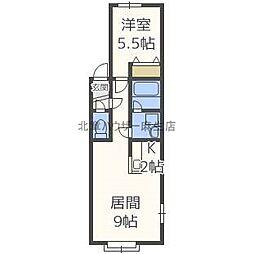 RITZ麻生[2階]の間取り