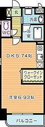 WINGS片野II(ウィングス片野II)[2階]の間取り