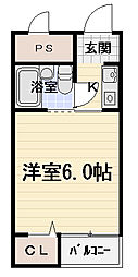 エスポワール豊秀Ⅰ[3階]の間取り
