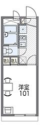 JR片町線(学研都市線) 藤阪駅 徒歩14分の賃貸アパート 1階1Kの間取り