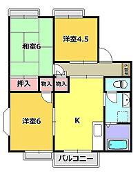 サニープラザB[2階]の間取り