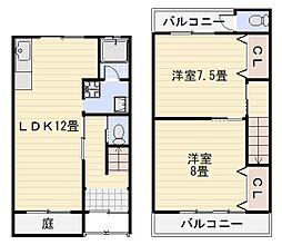 大阪府堺市中区深井中町の賃貸アパートの間取り
