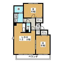 北海道札幌市中央区北十三条西16丁目の賃貸マンションの間取り