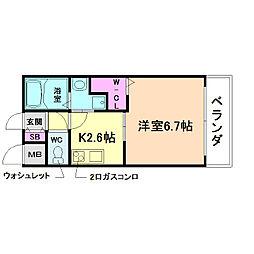 サムティ福島LaLuna[2階]の間取り