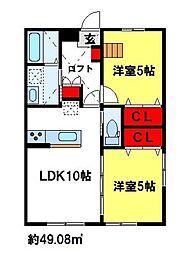 メゾン・ド・元町[1階]の間取り