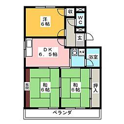 マンション神谷[4階]の間取り