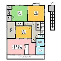 [一戸建] 愛知県一宮市緑1丁目 の賃貸【/】の間取り