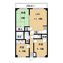 iマンション[102号室]の間取り