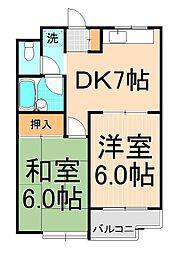 松本レジデンス[306号室]の間取り