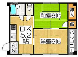寺地町ビル[4階]の間取り