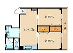 東京都中野区弥生町1丁目の賃貸マンションの間取り
