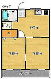 マンションアサノI[5階]の間取り