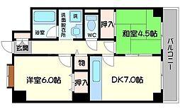 ヤマサ第6マンション[1階]の間取り