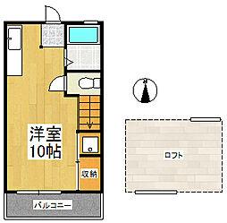 シティベール高良内 B棟[2階]の間取り