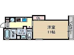 アンソレイユ茨木中津町[5階]の間取り
