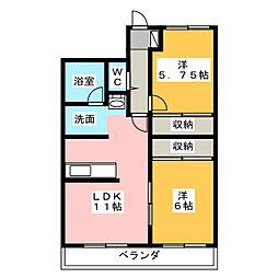 加藤マンションS[3階]の間取り
