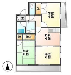寺山パークハイツ[2階]の間取り