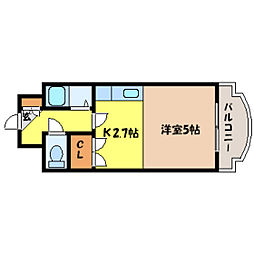 北海道札幌市北区北十四条西3丁目の賃貸マンションの間取り