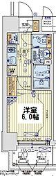 レオンコンフォート京橋EAST 9階1Kの間取り